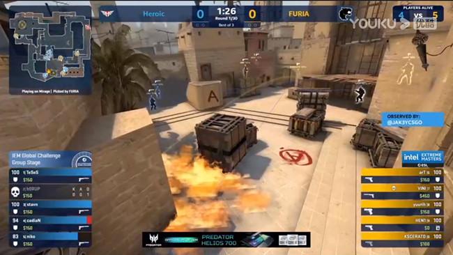 FURIA vs Heroic小组赛-IEM全球挑战赛2020视频回顾