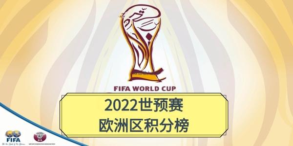 2022卡塔尔世界杯世预赛欧洲区积分榜